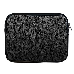 Grey Ombre Feather Pattern, Black, Apple Ipad 2/3/4 Zipper Case by Zandiepants