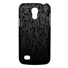 Grey Ombre Feather Pattern, Black, Samsung Galaxy S4 Mini (gt I9190) Hardshell Case  by Zandiepants