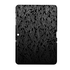 Grey Ombre Feather Pattern, Black, Samsung Galaxy Tab 2 (10 1 ) P5100 Hardshell Case  by Zandiepants