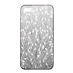 Grey Ombre Feather Pattern, White, Apple Iphone 4/4s Seamless Case (black) by Zandiepants