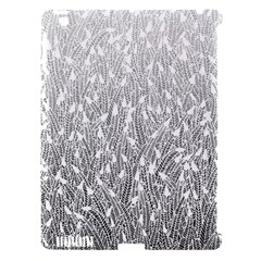 Grey Ombre Feather Pattern, White, Apple Ipad 3/4 Hardshell Case (compatible With Smart Cover) by Zandiepants