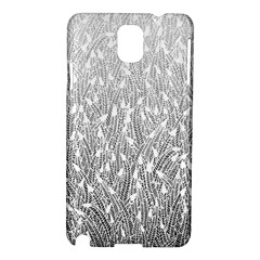 Grey Ombre Feather Pattern, White, Samsung Galaxy Note 3 N9005 Hardshell Case by Zandiepants