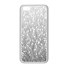 Grey Ombre Feather Pattern, White, Apple Iphone 5c Seamless Case (white) by Zandiepants