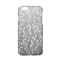Grey Ombre Feather Pattern, White, Apple Iphone 6/6s Hardshell Case by Zandiepants