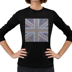 Multicoloured Union Jack Women s Long Sleeve Dark T Shirts by cocksoupart