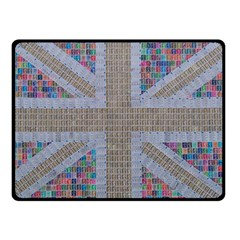 Multicoloured Union Jack Fleece Blanket (small) by cocksoupart