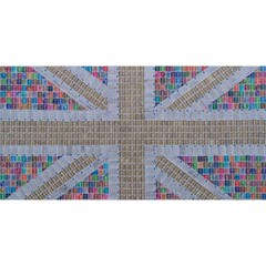 Multicoloured Union Jack You Are Invited 3d Greeting Card (8x4)  by cocksoupart