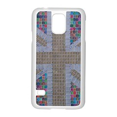 Multicoloured Union Jack Samsung Galaxy S5 Case (white) by cocksoupart