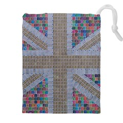 Multicoloured Union Jack Drawstring Pouches (xxl) by cocksoupart
