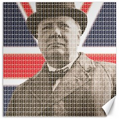 Churchill 1 Canvas 12  X 12   by cocksoupart