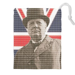 Winston Churchill Drawstring Pouches (xxl) by cocksoupart