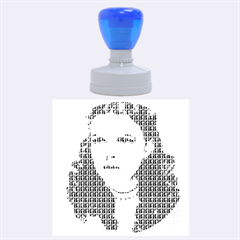 Over The Rainbow - Blue Rubber Round Stamps (large)