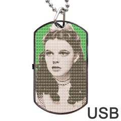 Over The Rainbow   Green Dog Tag Usb Flash (two Sides)  by cocksoupart