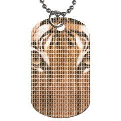 Tiger Tiger Dog Tag (two Sides) by cocksoupart