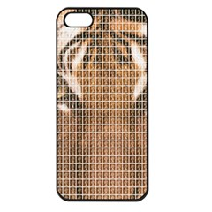 Tiger Tiger Apple Iphone 5 Seamless Case (black) by cocksoupart