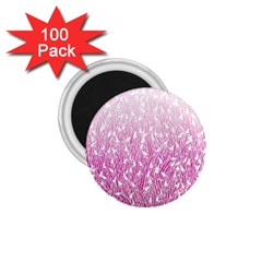 Pink Ombre Feather Pattern, White, 1 75  Magnet (100 Pack)  by Zandiepants