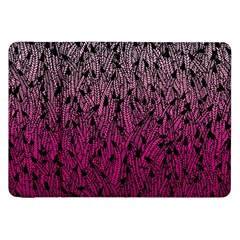 Pink Ombre Feather Pattern, Black, Samsung Galaxy Tab 8 9  P7300 Flip Case by Zandiepants