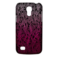 Pink Ombre Feather Pattern, Black, Samsung Galaxy S4 Mini (gt I9190) Hardshell Case  by Zandiepants