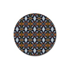 Stones Pattern Magnet 3  (round) by Costasonlineshop