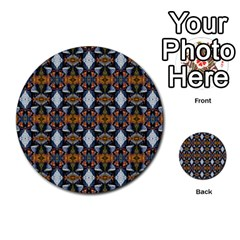 Stones Pattern Multi Purpose Cards (round)  by Costasonlineshop