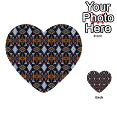 Stones Pattern Multi Purpose Cards (heart)  by Costasonlineshop