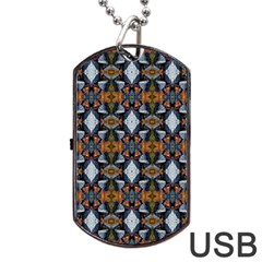 Stones Pattern Dog Tag Usb Flash (two Sides)  by Costasonlineshop