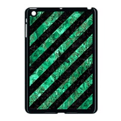 Stripes3 Black Marble & Green Marble Apple Ipad Mini Case (black) by trendistuff