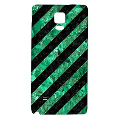Stripes3 Black Marble & Green Marble Samsung Note 4 Hardshell Back Case by trendistuff