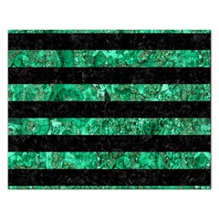 Stripes2 Black Marble & Green Marble Jigsaw Puzzle (rectangular) by trendistuff