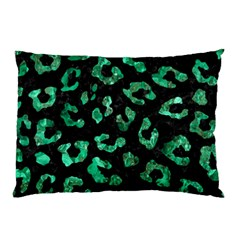 Skin5 Black Marble & Green Marble (r) Pillow Case (two Sides) by trendistuff