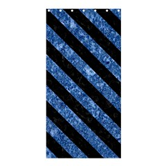 Stripes3 Black Marble & Blue Marble (r) Shower Curtain 36  X 72  (stall) by trendistuff