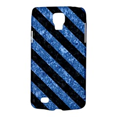 Stripes3 Black Marble & Blue Marble (r) Samsung Galaxy S4 Active (i9295) Hardshell Case by trendistuff