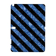 Stripes3 Black Marble & Blue Marble (r) Samsung Galaxy Note 10 1 (p600) Hardshell Case by trendistuff