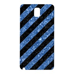 Stripes3 Black Marble & Blue Marble Samsung Galaxy Note 3 N9005 Hardshell Back Case by trendistuff