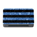 STRIPES2 BLACK MARBLE & BLUE MARBLE Memory Card Reader with CF Front