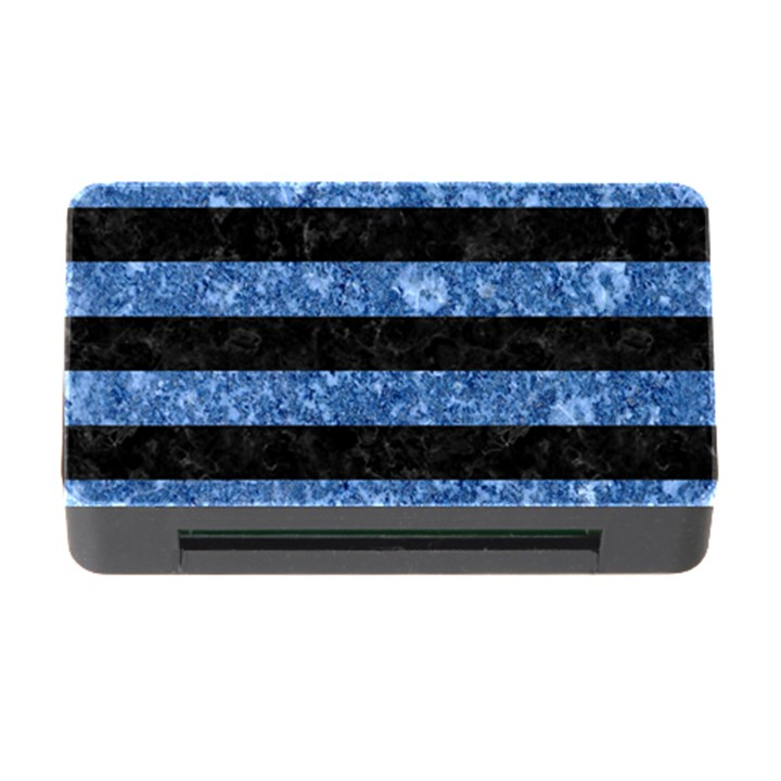 STRIPES2 BLACK MARBLE & BLUE MARBLE Memory Card Reader with CF