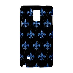 Royal1 Black Marble & Blue Marble (r) Samsung Galaxy Note 4 Hardshell Case by trendistuff