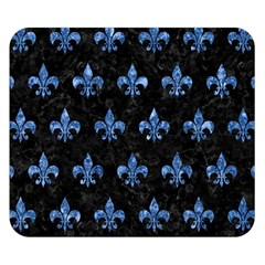 Royal1 Black Marble & Blue Marble (r) Double Sided Flano Blanket (small) by trendistuff