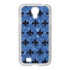 Royal1 Black Marble & Blue Marble Samsung Galaxy S4 I9500/ I9505 Case (white)