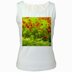 Poppy I Women s White Tank Top by colorfulartwork