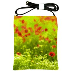 Poppy I Shoulder Sling Bags by colorfulartwork