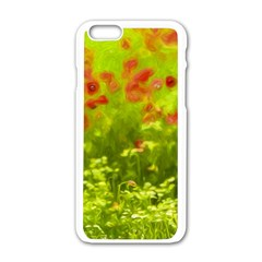 Poppy I Apple Iphone 6/6s White Enamel Case by colorfulartwork