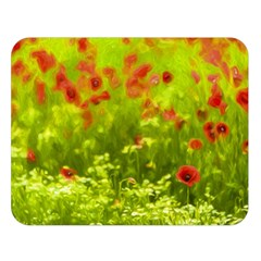 Poppy I Double Sided Flano Blanket (large)  by colorfulartwork