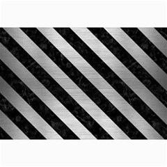 Stripes3 Black Marble & Silver Brushed Metal (r) Collage 12  X 18  by trendistuff