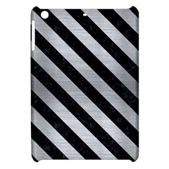 Stripes3 Black Marble & Silver Brushed Metal (r) Apple Ipad Mini Hardshell Case by trendistuff