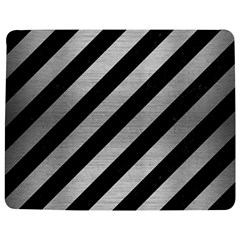 Stripes3 Black Marble & Silver Brushed Metal Jigsaw Puzzle Photo Stand (rectangular) by trendistuff