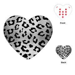 Skin5 Black Marble & Silver Brushed Metal Playing Cards (heart) by trendistuff