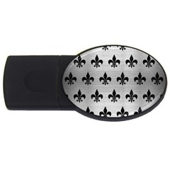 Royal1 Black Marble & Silver Brushed Metal Usb Flash Drive Oval (4 Gb) by trendistuff