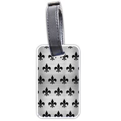 Royal1 Black Marble & Silver Brushed Metal Luggage Tag (two Sides) by trendistuff