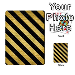 Stripes3 Black Marble & Gold Brushed Metal (r) Multi Purpose Cards (rectangle) by trendistuff